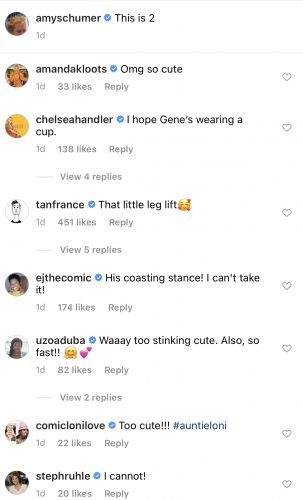 Amy Schumer's Friends Melt Over Adorable Video Of Gene On A Scooter
