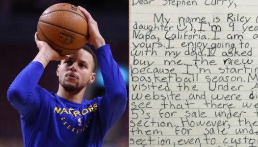 Steph Curry Responds After 9-Year-Old Asks Why His Shoes Aren't Available For Girls
