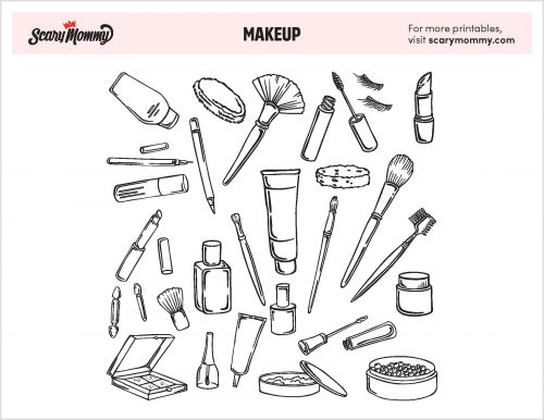 Throw A Little Shade At Boredom With These Makeup Coloring Pages