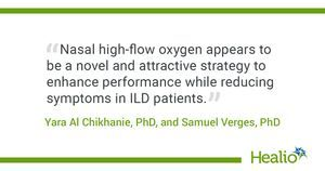 Nasal high-flow oxygen therapy yields benefit in severe ILD