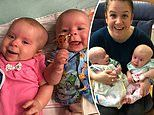 Twin baby girls were both diagnosed with a rare eye cancer just DAYS after being born