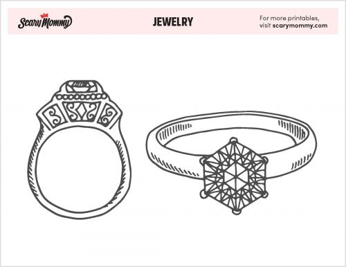 You're A Gem! 10 Free Jewelry Coloring Pages Worth The Price Of Gold