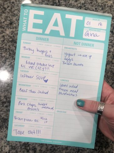 "This ""What To Eat"" Pad Makes Planning Dinner So Much Less Of A Pain In The Ass"