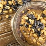 Tastes Just Like a Reese's! Try This Chocolate Overnight Oatmeal With Peanut Butter Swirls