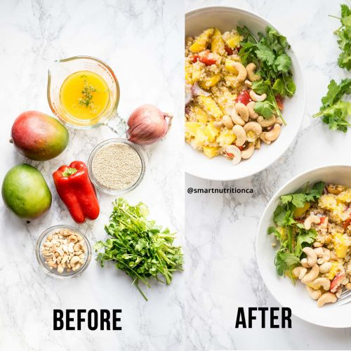 Mango Quinoa Salad -Thai Inspired!