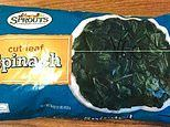 Frozen spinach recalled in 19 states after testing positive for listeria