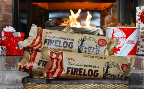 KFC Brought Back Their Fried Chicken-Scented Fire Logs For The Holidays