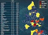 The 43 local authorities in England where Covid-19 cases are RISING