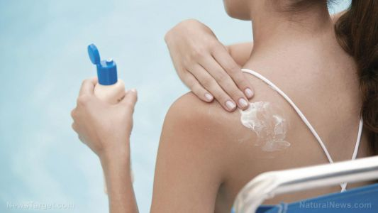 "If you use ""regular"" sunscreen, you are poisoning your blood with cancer-causing chemicals"
