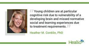 Young children with brain tumors may experience cognitive difficulty before treatment