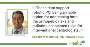 Robotic PCI confers high rates of technical, clinical success
