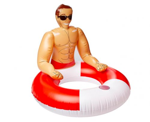 The 'Inflatable Hunk' Pool Float Is Here To Spice Up Your Summer
