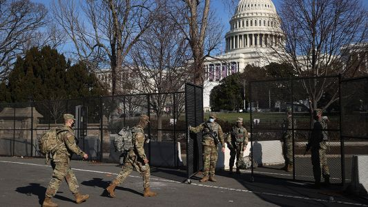 Biden has maybe 2,000 attendees at inauguration - and 25,000 military - just like they do in lawless banana republics