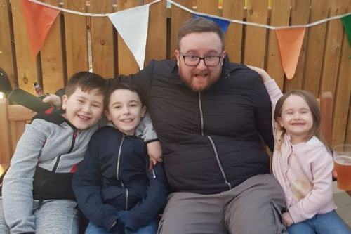 Dad, 35, dies from brain haemorrhage while at home with his children