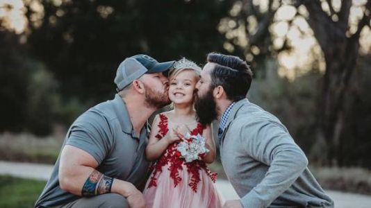 Pics Of A Dad And Step-Dad With Their Daughter Are Blended Family Goals