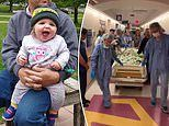 Heartbreaking moment mother wheels her brain dead baby daughter to donate her organs