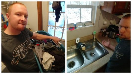 Husband's 'Sexy Pics' Prove Sharing Housework Is Hot